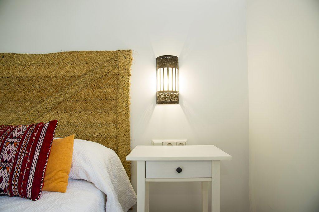 habitación, Chaouen, aplique, marroquí